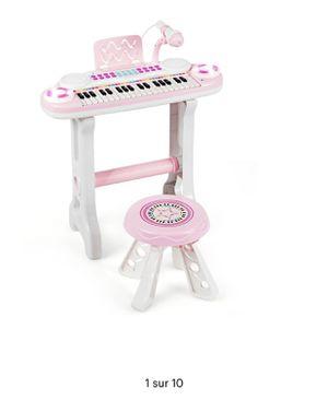 Costway 37-Key Kids Piano Keyboard Playset Electronic Organ Pink for Sale in Norwalk, CA