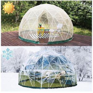 Patiolife Garden Dome with PVC Cover and Mesh Cover - Geodesic Dome 9.5ft - Bubble Tent with Door and Windows for Sunbubble, Backyard, Outdoor Winter for Sale in Rancho Cucamonga, CA