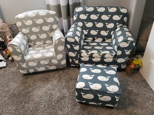 Whale Print Children's Upholstered Chairs for Sale in Vancouver, WA