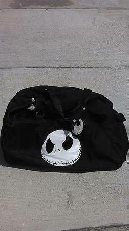 New Nightmare Before Christmas Jack Skellington Rare Rolling Duffle Bag Suitcase Luggage On Wheels for Sale in Irvine, CA