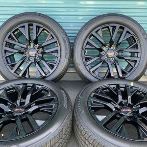 "22"" OEM Black GM Wheels Rims Tires GMC Escalade Yukon Tahoe Silverado for Sale in Fontana, CA"