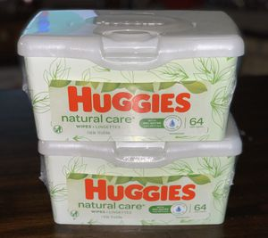 Huggies Wipes Natural Care - 64 count for Sale in Austin, TX