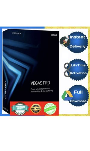 Sony Vegas Pro 16 2019 Windows Video Editing Software 🔐 Lifetime Activation 🔑 for Sale in Beverly Hills, CA