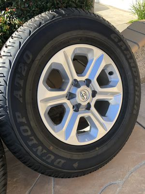 2020 4Runner SR5 Tires & Rims. Set of four with about 350mi on them. 4Runner purchased from Autonation Toyota Cerritos. for Sale in Orange, CA