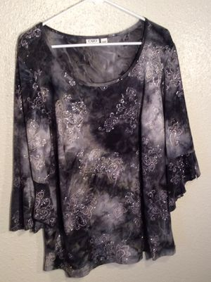 Brand New Black Women's CATO WOMAN Long Sleeve Tunic Top in package - Size 18-20W for Sale in Austin, TX