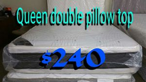Queen Double Pillow Top $240 for Sale in Manassas, VA