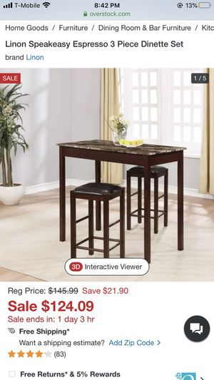 Dining Table With Faux Marble Top Metal Rectangle Home Kitchen Modern Furniture for Sale in Beverly Hills, CA