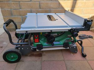 Hitachi metabo table saw 10 inch with cart for Sale in San Fernando, CA