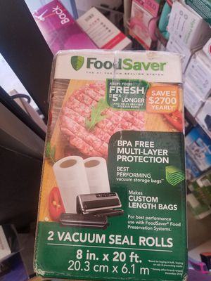 Foodsaver vacuum sealer rolls for Sale in Hawthorne, CA