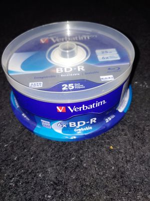 Verbatim BR-R Recordable Blu Ray 25 Pack 25GB for Sale in Spring Hill, FL
