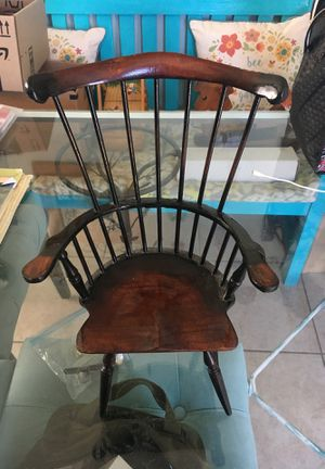 Small lil wooden antique Windsor chair and about a 1 foot tall an som inches for Sale in San Diego, CA