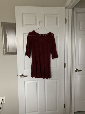 Purple lace mini dress medium for Sale in Norristown, PA