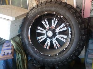 20 inch hard rock rims for Sale in Los Angeles, CA