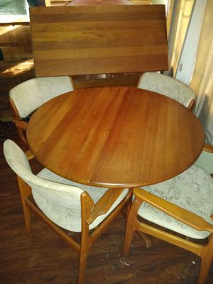 Teak kitchen table and chairs for Sale in Venice, FL