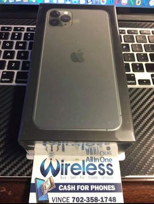 BRAND NEW IPHONE 11 MAX PRO 64GN NOW ONLY for Sale in Las Vegas, NV