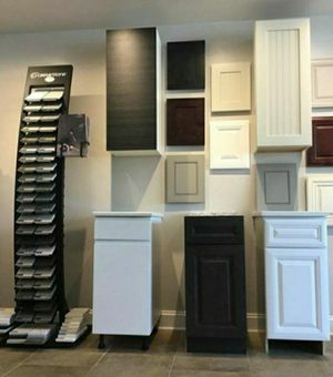 White & Black & Brown & Gray Kitchen Cabine for Sale in Rockville, MD