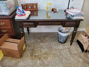 Bernhardt writing desk with glass top for Sale in Irmo, SC