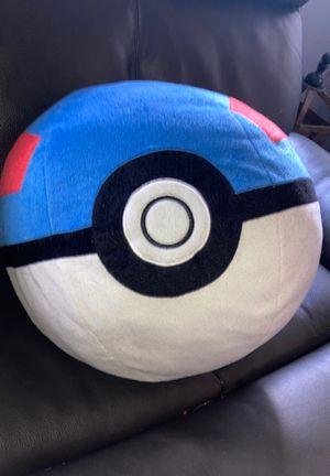 Giant Great Ball Pokémon Plushie for Sale in Elmhurst, IL