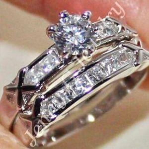 White Diamonique 050 Wedding Ring/ Sterling Silver / Sizes: 8,9 for Sale in Brownsboro, TX