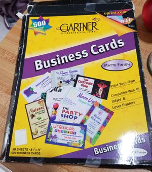 18 sheets of business labels for printing for Sale in Appleton, WI