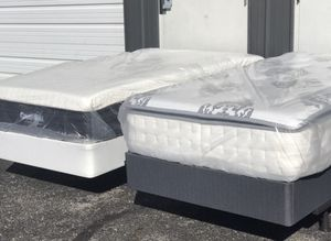New TWIN size Cool Gel memory foam and hybrid mattress EACH $175 or $200 with box spring for Sale in Columbus, OH