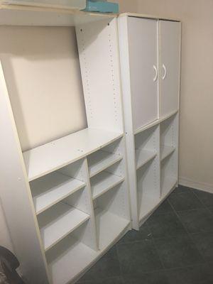 "Tall, White, Storage/Shelving Units (Slidell)(67"" x 33"" x 15"") for Sale in Slidell, LA"
