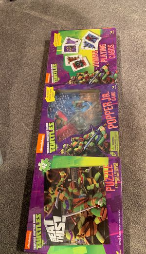 Teenage mutant ninja turtles three-piece game set for Sale in Hebron, CT