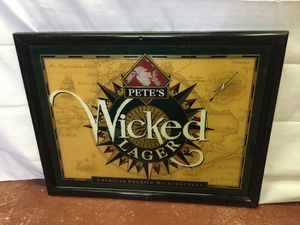Pete's Wicked Lager Bar Sign for Sale in Lauderdale Lakes, FL