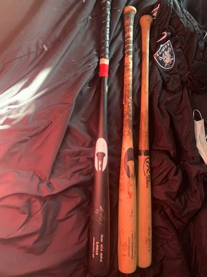 Professional baseball game used broken bats for Sale in Long Beach, CA