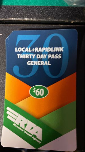 Bus pass RTA for Sale in San Jacinto, CA