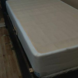 Twin Sleigh Bed With Box Spring for Sale in Corona, CA