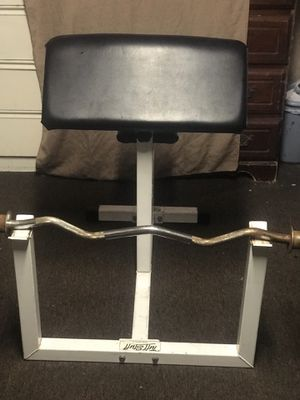 CURL BENCH and OLYPIC BAR for Sale in Los Angeles, CA