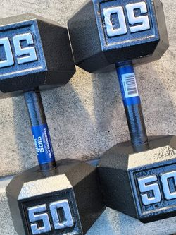 NEW 50lbs Hex Dumbbell weight set (100lbs total) ▪︎FREE DELIVERY ✅✅ ▪︎ for Sale in Hayward,  CA