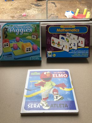 2 Children's games (Ages 3+) and 1 Spanish book for Sale in Walnut Creek, CA