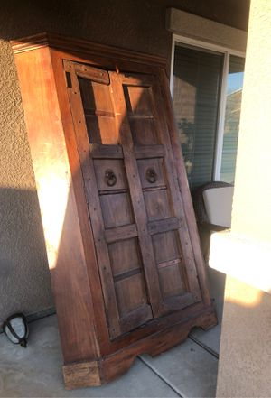 Antique Indian Armoire for Sale in Fresno, CA