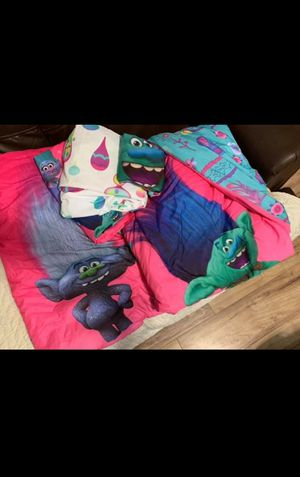 Trolls bedding set & curtains for Sale in Lowell, MA