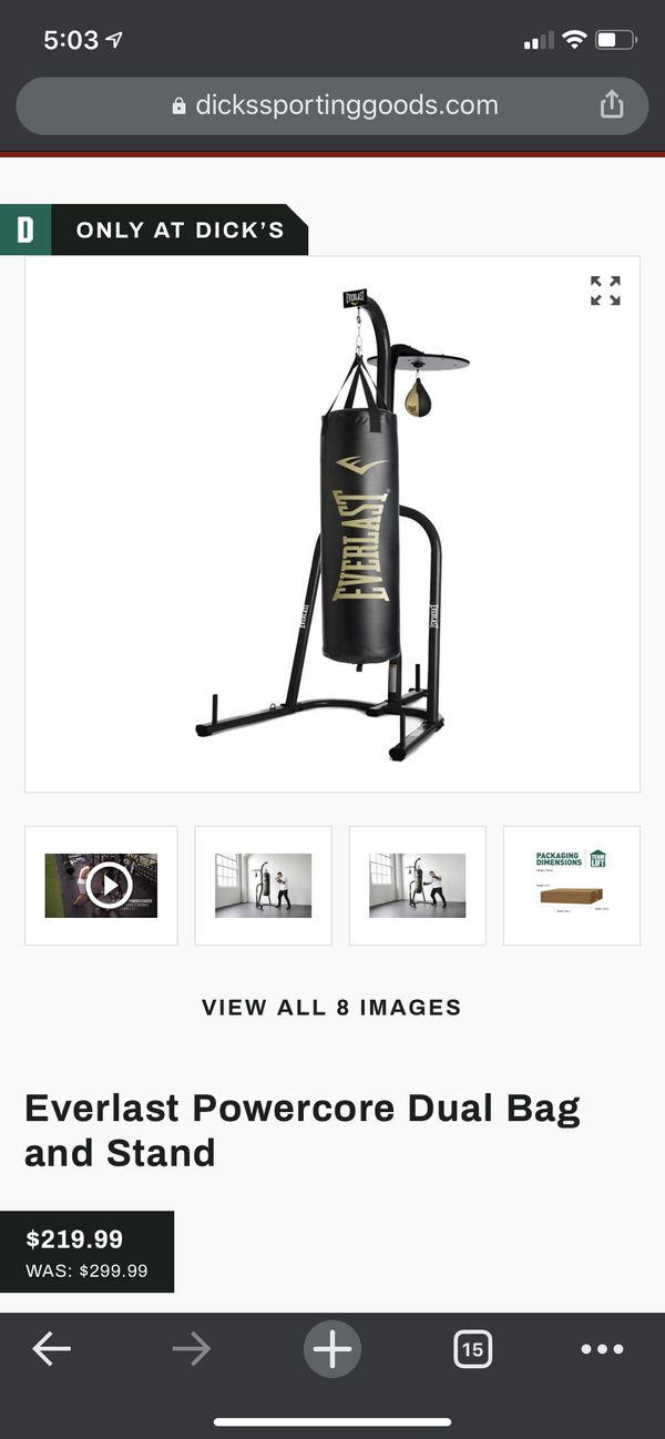 Boxing Rack With Two Speed Bags