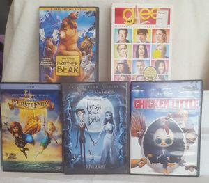 Mixed Lot Dvds Disney, Corpse Bride, Glee 4-disc, Tinker, Chicken Little, etc for Sale in Riverside, CA