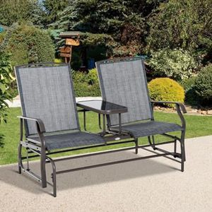 SHIPPING ONLY 2 Seater Patio Furniture Glider Couch Metal Swing Bench Set for Sale in Las Vegas, NV