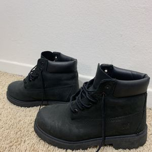 Black Timberland Boots Sz 2 youth for Sale in Upland, CA