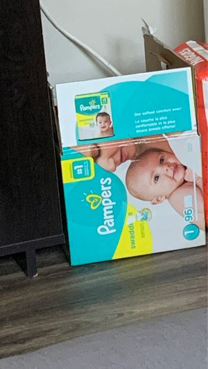 Half of box left of pampers size 1 for Sale in Fircrest, WA
