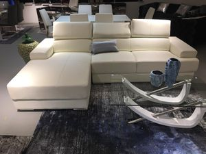 White leather sectional sofa for Sale in Rockville, MD