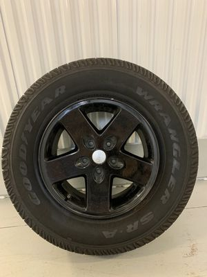Jeep Wrangler JK rims and tires for Sale in Rosharon, TX