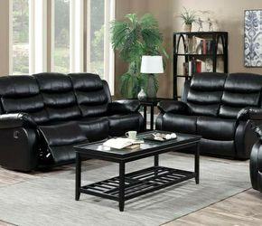 🔹GT Black Reclining Living Room Set for Sale in Philadelphia,  PA