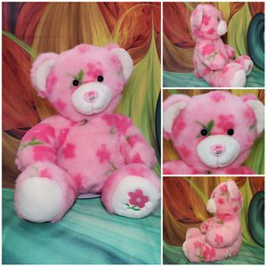"16"" Build a Bear Pink Spring Season of Hugs Flower Paw BABW Easter Teddy Plush for Sale in Hallettsville, TX"