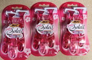 3 bic soleil razors for Sale in Glendale, AZ
