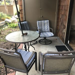 Patio set with umbrella and stand for Sale in Dana Point, CA