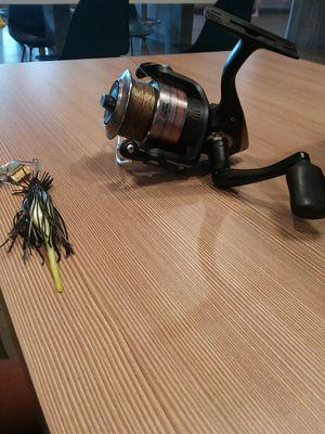 Black bass fishing buzzbait with Abu Garcia reel for Sale in Hermitage, TN
