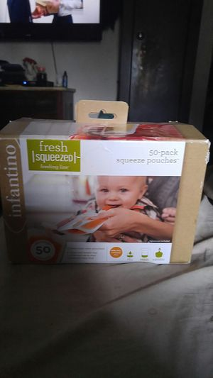 Infantino 50 pack Squeeze Pouches for Sale in Columbia, SC