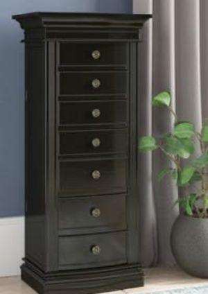 New!! Armoire, cabinet, 2 side door 6 drawers jewelry cabinet w top mirror, jewelry armoire, storage unit, jewelry organizer, bedroom furniture, for Sale in Phoenix, AZ